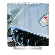 1960 Chevrolet Corvette Hood Emblem Shower Curtain