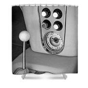 1960 Chevrolet Corvette Instruments Shower Curtain by Jill Reger