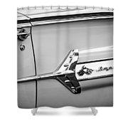 1960 Chevrolet Impala Emblem -340bw Shower Curtain
