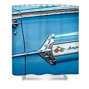 1960 Chevrolet Impala Emblem -340c Shower Curtain