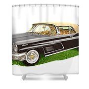 1960 Continental Convertible Shower Curtain