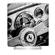 1960 Ferrari 250 Gt Cabriolet Pininfarina Series II Steering Wheel Emblem -1319bw Shower Curtain