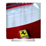 1960 Ferrari 250 Gt Swb Berlinetta Competizione Grille Emblem Shower Curtain by Jill Reger