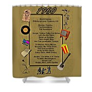 1960 Great Events Shower Curtain