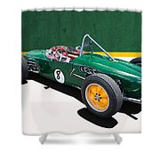 1960 Lotus 18 Fj Shower Curtain