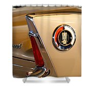 1960 Plymouth Fury Convertible Taillight And Emblem Shower Curtain