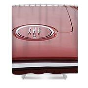 1960 Plymouth Xnr Ghia Roadster  Emblem Shower Curtain by Jill Reger
