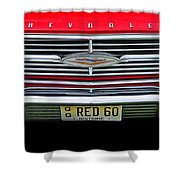 1960 Red Chevy Shower Curtain