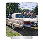 1960 Thunderbird 2 Shower Curtain