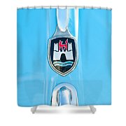 1960 Volkswagen Vw Hood Emblem 2 Shower Curtain