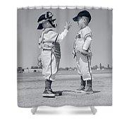 1960s Boy Little Leaguer Pitcher Shower Curtain