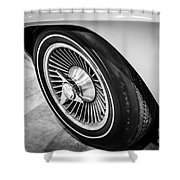 1960's Chevrolet Corvette C2 Spinner Wheel Shower Curtain by Paul Velgos