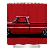 1960's Chevy C10 Pickup Shower Curtain
