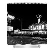1960s Night Scene Of The Stardust Shower Curtain