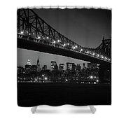 1960s Queensboro Bridge And Manhattan Shower Curtain
