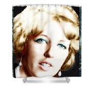 1960's Self Model Pose Shower Curtain