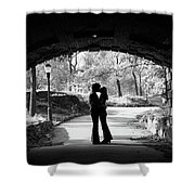 1960s Silhouette Of Anonymous Young Shower Curtain