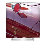 1961 Alfa Romeo Giulietta Sprint Speciale Emblem Shower Curtain