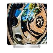 1961 Alfa Romeo Giulietta Sprint Speciale Wheel Emblem -0051c Shower Curtain