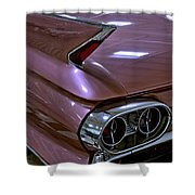 1961 Cadillac Coupe 62 Taillight Shower Curtain