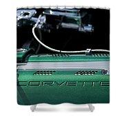 1961 Chevrolet Corvette Engine Shower Curtain