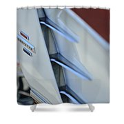 1961 Chevrolet Corvette Side Emblem 4 Shower Curtain
