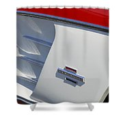 1961 Chevrolet Corvette Side Emblem Shower Curtain
