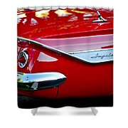 1961 Chevrolet Impala Taillight Emblem Shower Curtain