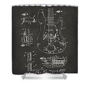 1961 Fender Guitar Patent Artwork - Gray Shower Curtain