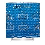1961 Lego Building Blocks Patent Art 1 Shower Curtain