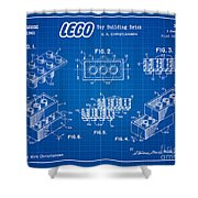 1961 Lego Building Blocks Patent Art 3 Shower Curtain