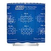 1961 Lego Building Blocks Patent Art 4 Shower Curtain