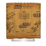 1961 Lego Building Blocks Patent Art 5 Shower Curtain