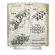 1961 Lego Patent Shower Curtain