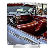 1961 Lincoln Continental Interior Shower Curtain
