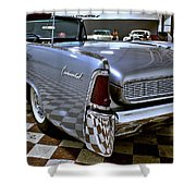 1961 Lincoln Continental Taillight Shower Curtain