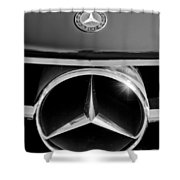 1961 Mercedes-benz 300 Sl Grille Emblem Shower Curtain