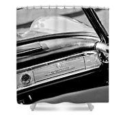 1961 Mercedes-benz 300 Sl Roadster Dashboard Emblem Shower Curtain