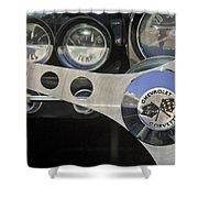 1962 Chevrolet Corvette Convertible Steering Wheel Shower Curtain