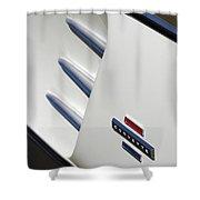1962 Chevrolet Corvette Side Emblem Shower Curtain
