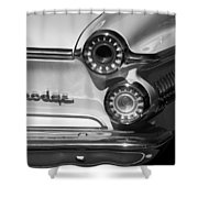 1962 Dodge Dart Taillight Emblem Shower Curtain