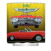 1962 Ford T-bird Sport Shower Curtain