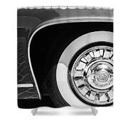 1962 Ghia L6.5 Coupe Wheel Emblem Shower Curtain