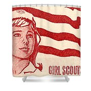 1962 Girl Scouts Of America Postage Stamp Shower Curtain