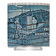 1962 Homestead Act Stamp Shower Curtain