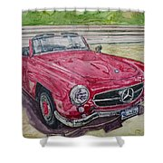 1962 Mercedes Benz 190sl Shower Curtain