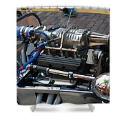 1962 V6 Lotus Engine Shower Curtain