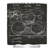 1963 Automatic Phonograph Jukebox Patent Artwork - Gray Shower Curtain