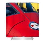 1963 Chevrolet Corvette Convertible Emblem Shower Curtain