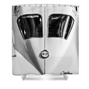 1963 Chevrolet Corvette Split Window -386bw Shower Curtain